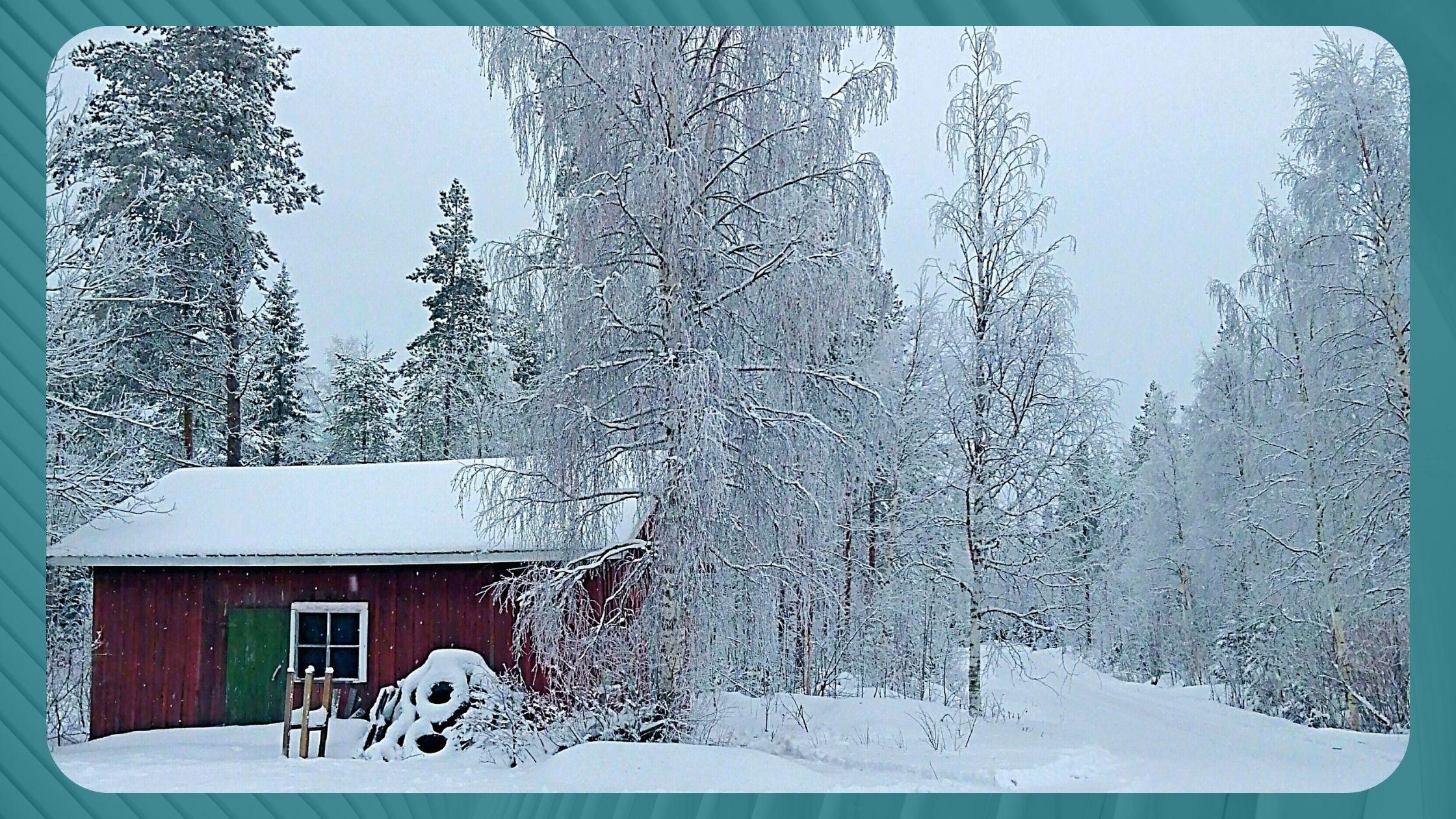 Suomen luminen talvimaisema