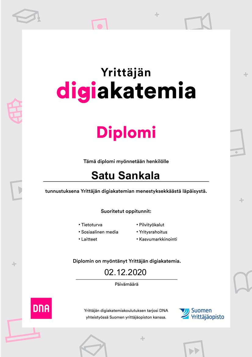 Yrittäjän digiakatemia, DNA ja Suomen Yrittäjäopisto