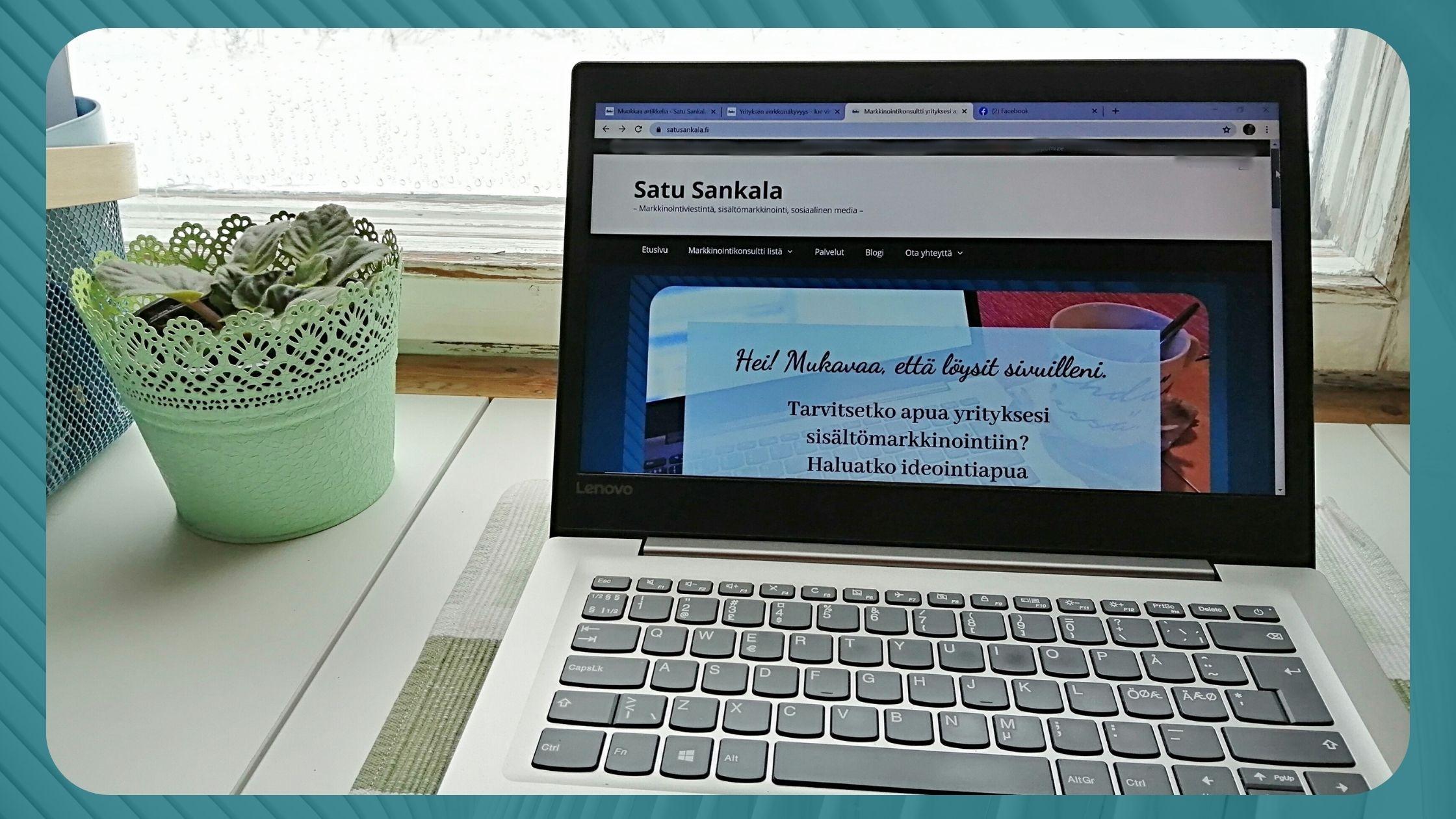Näkyvyyttä voi saavuttaa esimerkiksi omalla verkkosivulla